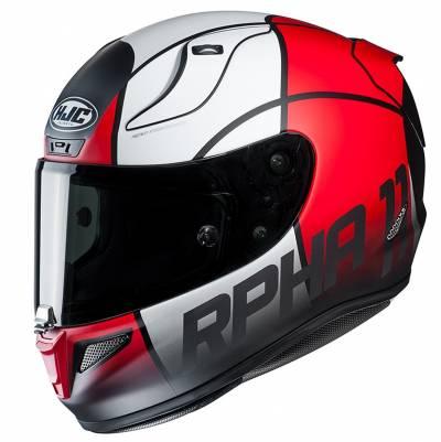 HJC Helm RPHA11 Quintain MC1SF, rot-weiß-schwarz matt
