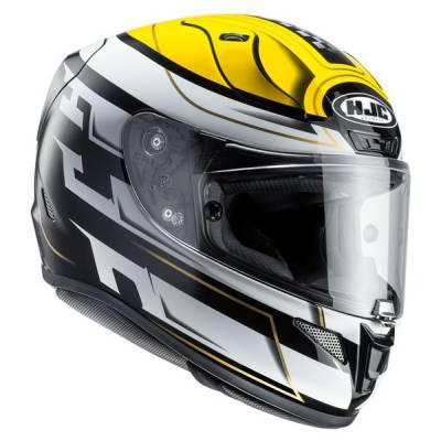 HJC Helm RPha11 Skyrym MC3, schwarz-weiß-gelb