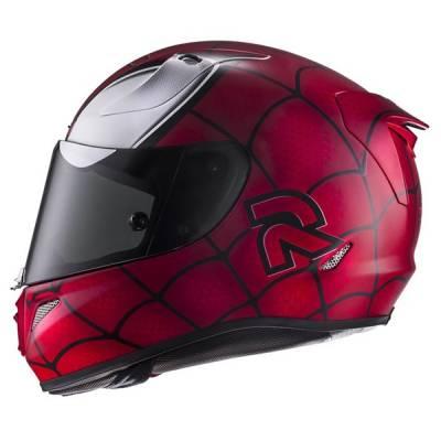 HJC Helm RPha11 Spiderman MC1SF Marvel, rot-schwarz-weiß-matt