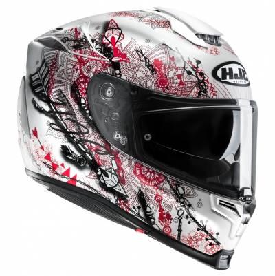 HJC Helm RPHA70 Hanoke MC1SF, weiß-schwarz-rot