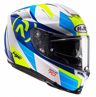 HJC Helm RPHA70 Lif MC2, weiß-blau-fluogelb