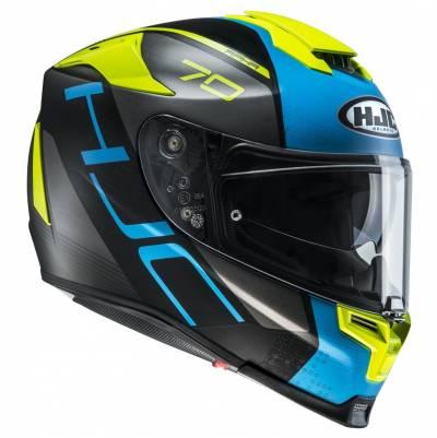 HJC Helm RPHA70 Vias MC2SFF, schwarz-blau-fluogelb matt