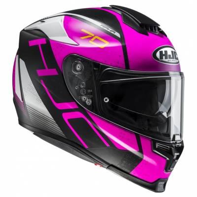HJC Helm RPHA70 Vias MC8SF, schwarz-pink-weiß matt