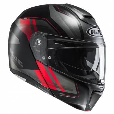 HJC Helm RPHA90 Tanisk MC1SF, schwarz-grau-rot matt