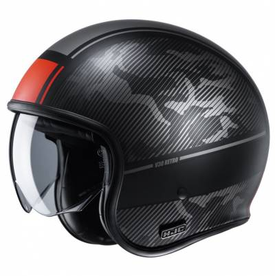 HJC Helm V30 Alpi MC1SF, schwarz-rot matt