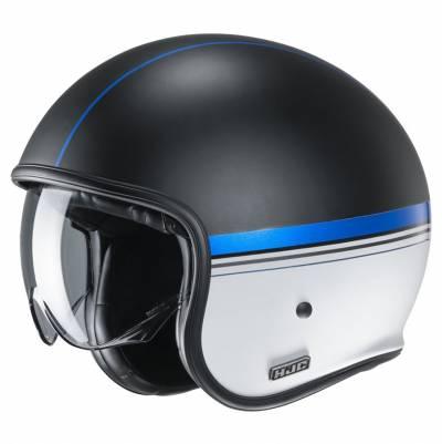 HJC Helm V30 Equinox MC2SF, schwarz-weiß-blau matt