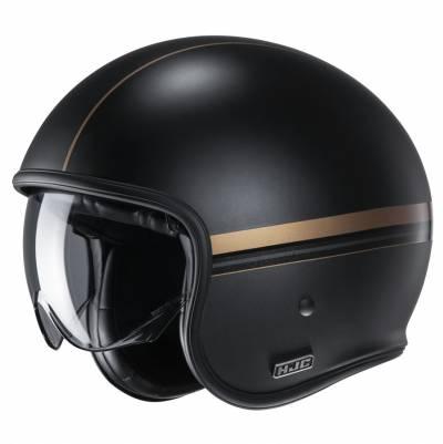 HJC Helm V30 Equinox MC9SF, schwarz-gold matt