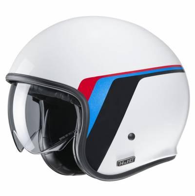 HJC Helm V30 Osor MC10, weiß-schwarz-blau-rot