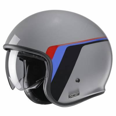 HJC Helm V30 Osor MC5, grau-schwarz-blau-rot