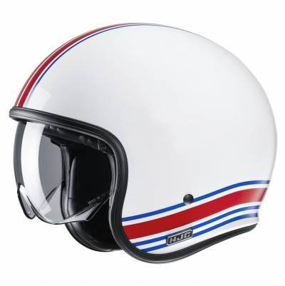 HJC Helm V30 Senti MC21, weiß-rot-blau