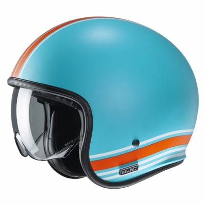 HJC Helm V30 Senti MC27SF, blau-orange-weiß matt