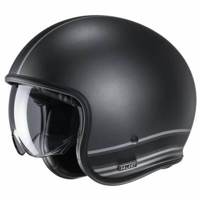 HJC Helm V30 Senti MC5SF, schwarz-grau matt