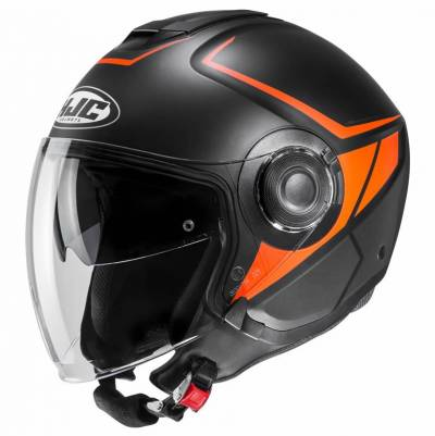 HJC Jethelm i40 Camet, MC7SF schwarz-orange matt