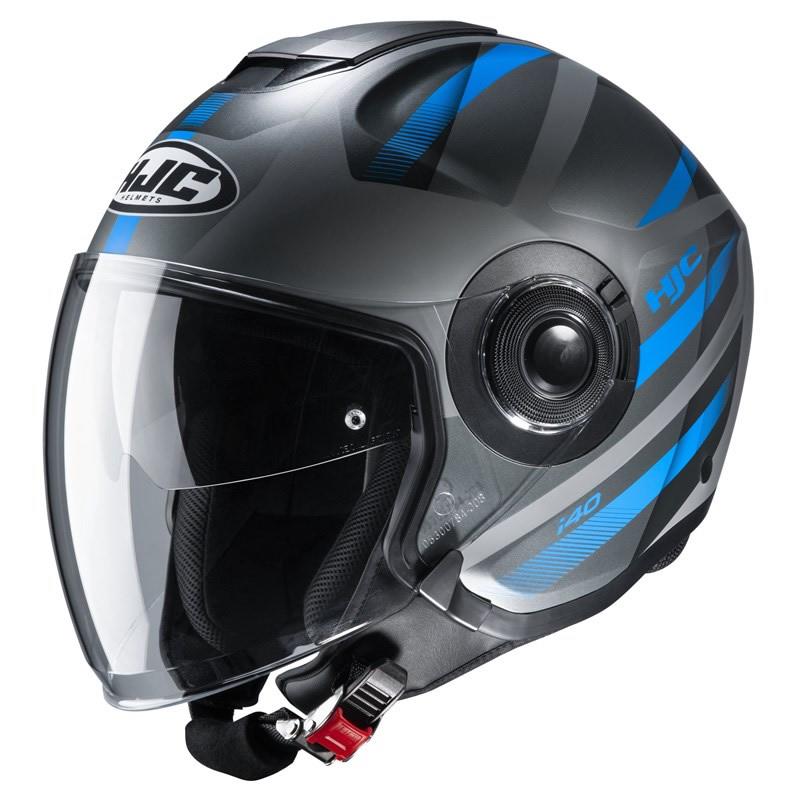 HJC Jethelm i40 Remi MC2SF, schwarz-blau matt