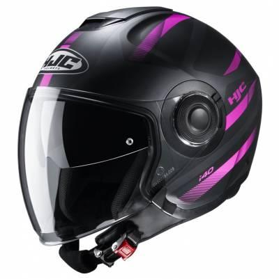 HJC Jethelm i40 Remi MC8SF, schwarz-pink matt