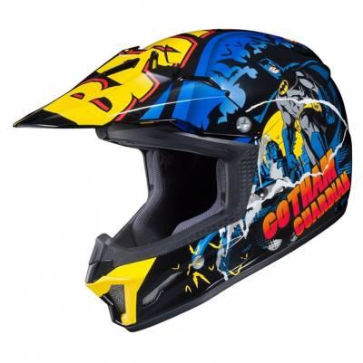 HJC Kinder-Crosshelm CL-XY II Batman DC MC23, schwarz-blau-gelb