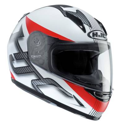 HJC Kinder Integralhelm CL-Y Goli MC1SF, weiß-rot