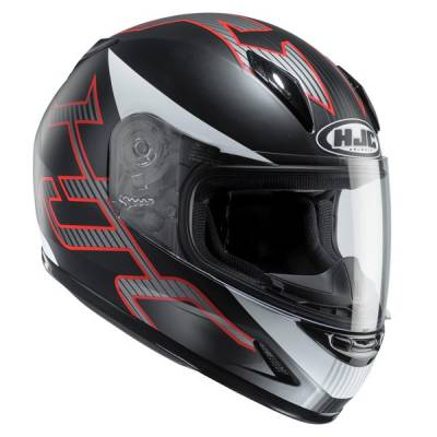 HJC Kinder Integralhelm CL-Y Goli MC5SF, schwarz-rot