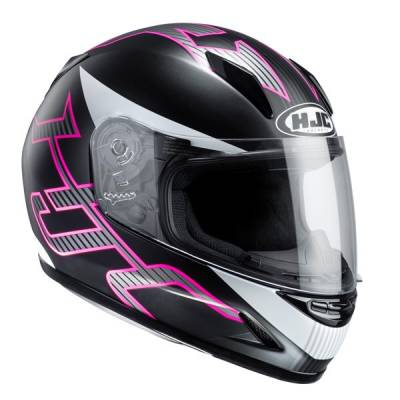 HJC Kinder Integralhelm CL-Y Goli MC8SF, schwarz-pink