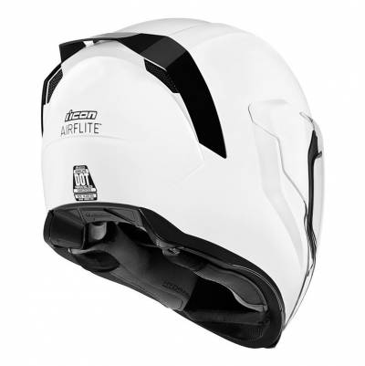 icon Helm Airflite Gloss, weiß