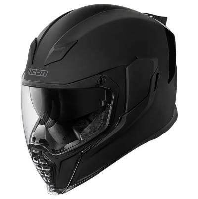 icon Helm Airflite Rubatone, schwarz matt