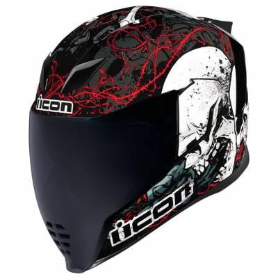 icon Helm Airflite Skull18, schwarz-weiß