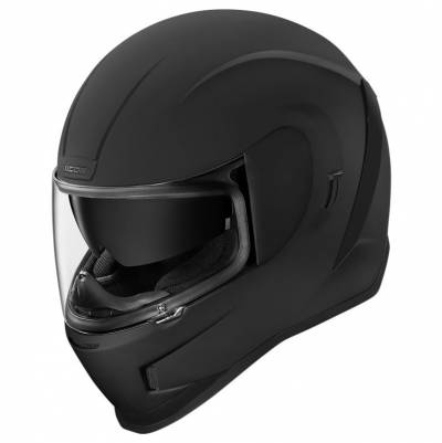 icon Helm Airform Rubatone, schwarz matt