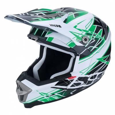 iXS B-Ware - Helm HX 178 Power, schwarz-grün-weiß