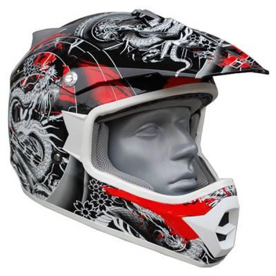 iXS B-Ware Helm HX 274 Irezumi, schwarz-weiß-rot