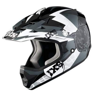 iXS B-Ware Helm HX 278 Tiger Kids, schwarz-grau-weiß