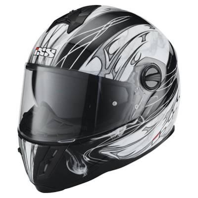 iXS B-Ware Helm HX 396 Haze, schwarz-weiß-grau