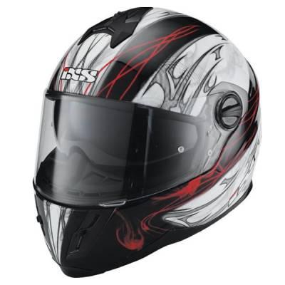 iXS B-Ware Helm HX 396 Haze, schwarz-weiß-rot