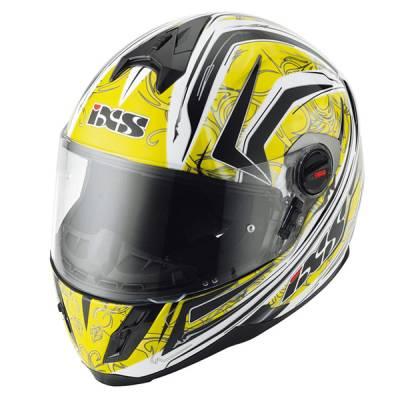 iXS B-Ware Helm HX 397 Blaze, gelb-schwarz-weiß