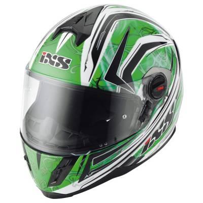 iXS B-Ware Helm HX 397 Blaze, grün-schwarz-weiß