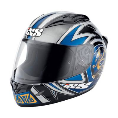iXS B-Ware Helm HX 404 Dragon, schwarz-blau-grau