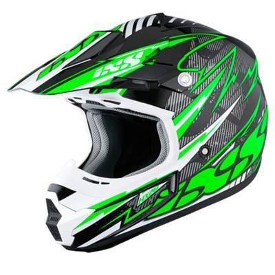 iXS B-Ware - Helm HX261 Thunder, schwarz-grün-weiß