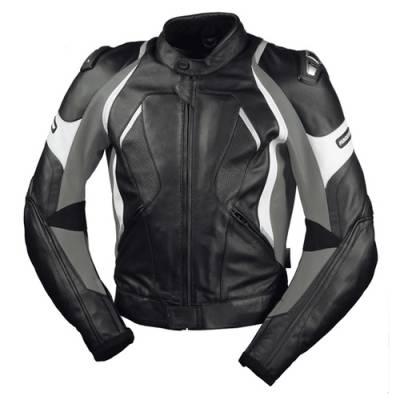 iXS B-Ware Lederjacke Canopus Damen, schwarz-grau-weiß