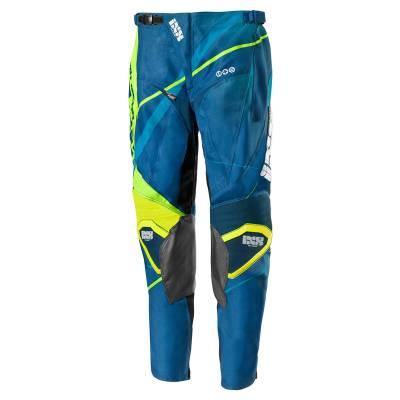 iXS Cross Hose Hurricane Kids, blau-gelb