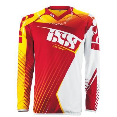 iXS Cross Shirt Atmore, gelb-rot-weiss
