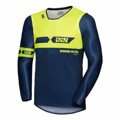iXS Cross Shirt Jersey 19 2.0, blau-gelb