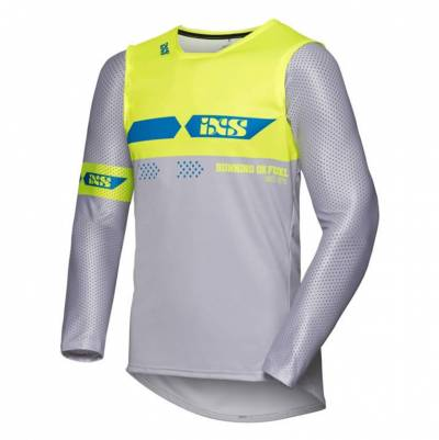 iXS Cross Shirt Jersey 19 2.0, grau-gelb