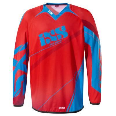 iXS Cross Shirt Raceway Kids, rot-blau