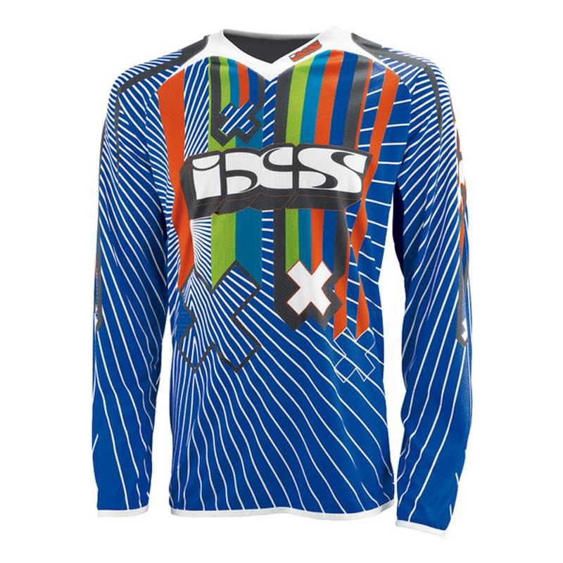 iXS Cross Shirt Rango Kids, blau-schwarz-weiß