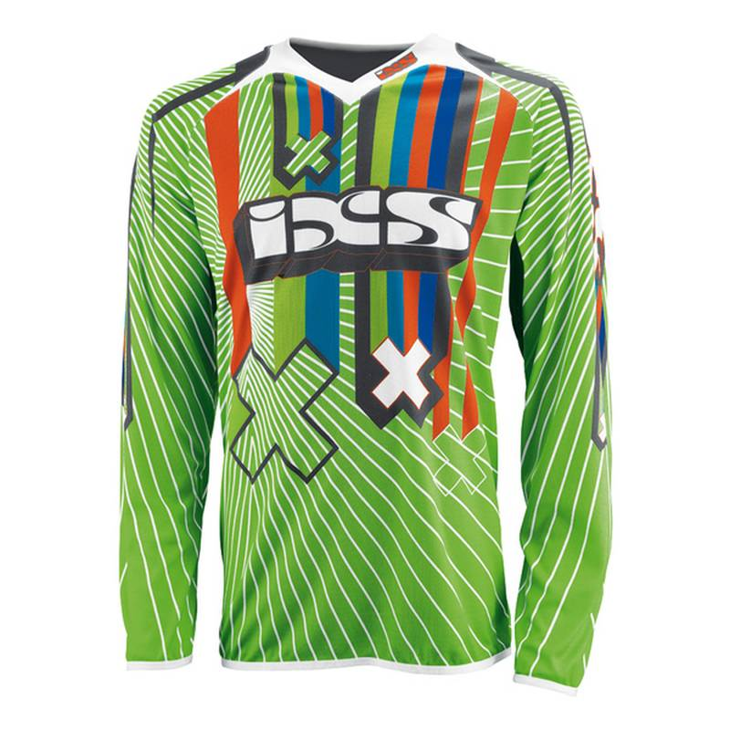 iXS Cross Shirt Rango Kids, gruen-schwarz-weiß