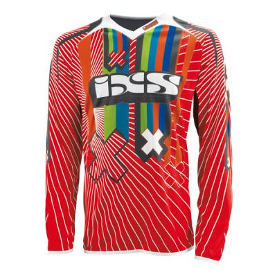 iXS Cross Shirt Smash, rot-weiß-schwarz