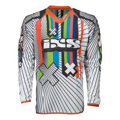 iXS Cross Shirt Smash, weiß-schwarz