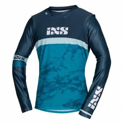 iXS Cross Shirt Trigger, blau-blau
