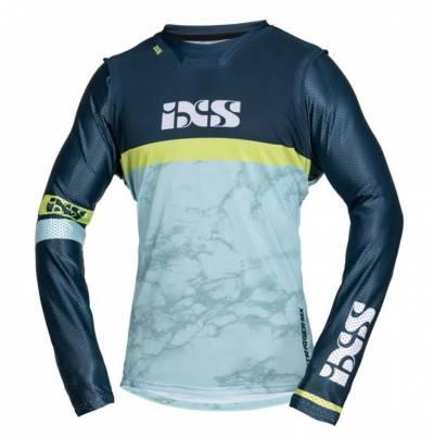 iXS Cross Shirt Trigger, blau-blau-gelb