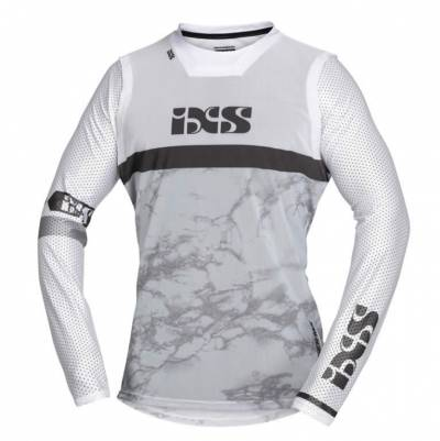 iXS Cross Shirt Trigger, grau-weiß