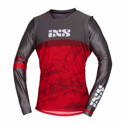 iXS Cross Shirt Trigger, rot-grau